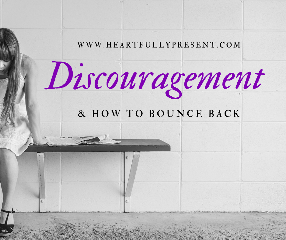 discouragement | how to bounce back | discouraged woman