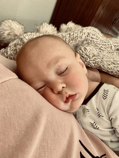 sleeping baby | 9 month old baby | bouncing back after having a baby at 35